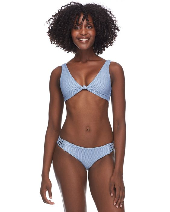 BODY GLOVE- WILD GWEN REVERSIBLE SWIM TOP - DENIM
