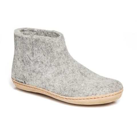GLERUPS- WOMEN'S BOOT with Leather Sole in Grey