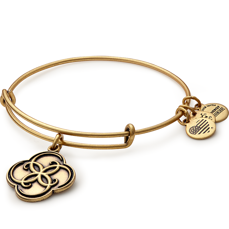 ALEX AND ANI- Breath of Life Charm Bangle