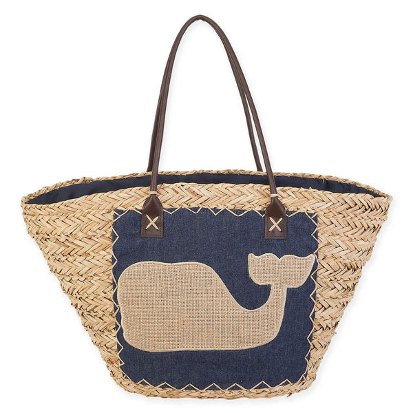 SUN 'N' SAND- RAINE NATURAL STRAW TOTE