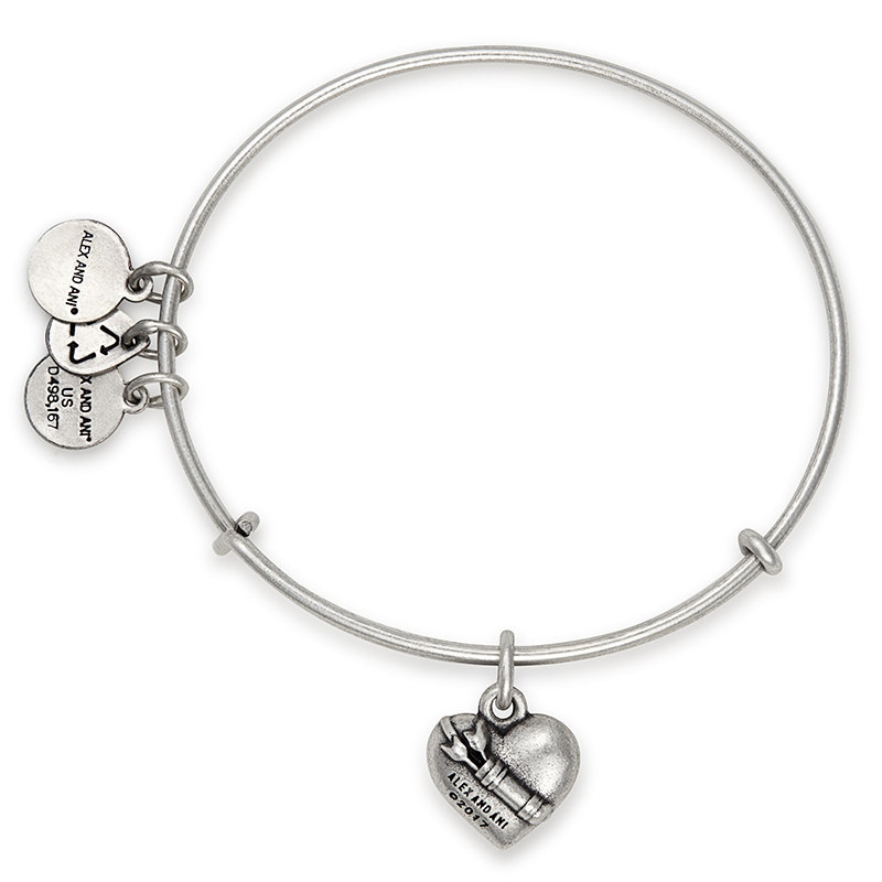 ALEX AND ANI- Cupid's Heart Charm Bangle