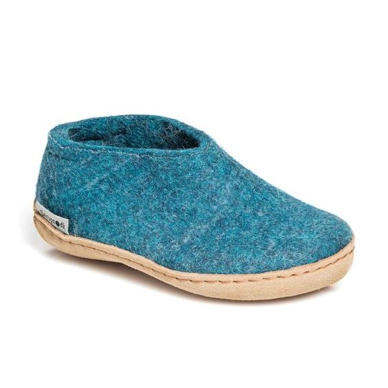 GLERUPS- MEN'S SHOE with Leather Sole in Blue