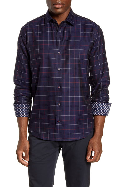 BUGATCHI- CLASSIC FIT BUTTON-UP SHIRT