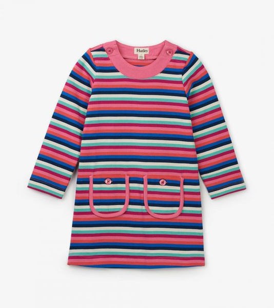 HATLEY- RAINBOW STRIPE MOD DRESS
