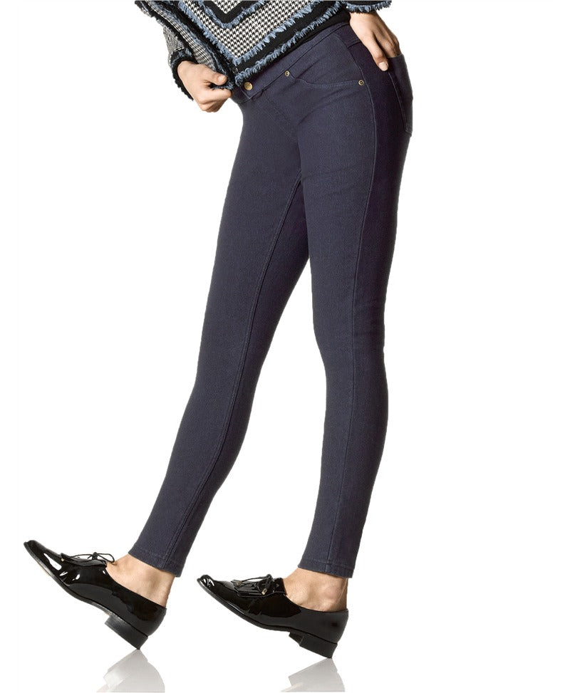 HUE- FLEECE LINED DENIM LEGGINGS