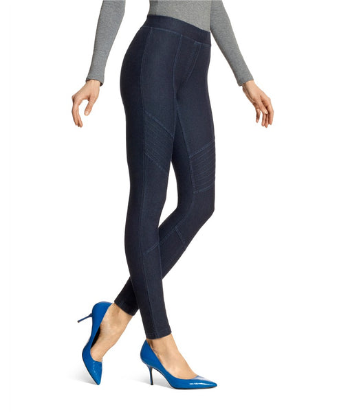 HUE- MOTO ESSENTIAL DENIM LEGGINGS