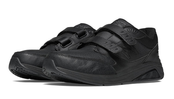 NEW BALANCE- MEN'S HOOK AND LOOP BLACK LEATHER 928v2