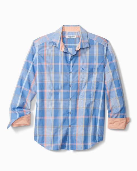 TOMMY BAHAMA- NEWPORT COAST ALTERRA PLAID ISLANDZONE SHIRT
