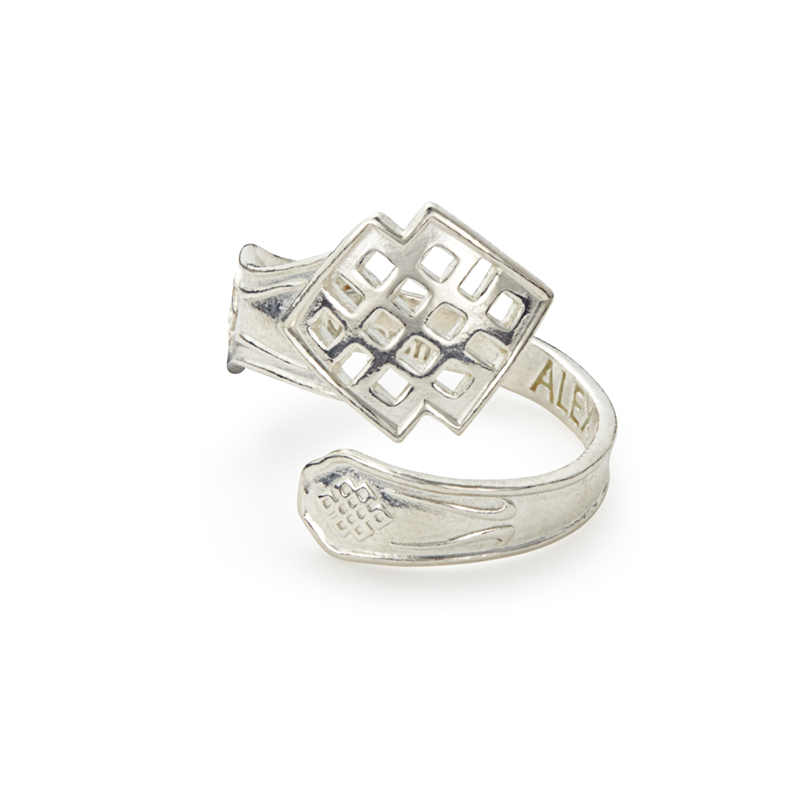 ALEX AND ANI- Endless Knot Spoon Ring