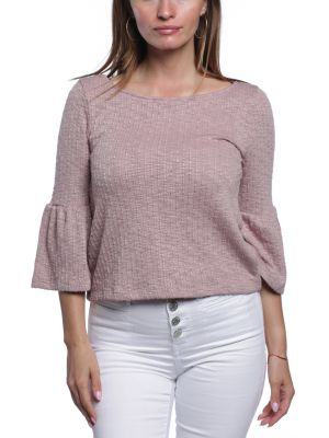 BB DAKOTA- NO SUBSTITUTE SLUB KNIT RUFFLE SLEEVE TOP (more colours)