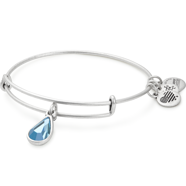 ALEX AND ANI- March Birth Month Charm Bangle With Swarovski® Crystal
