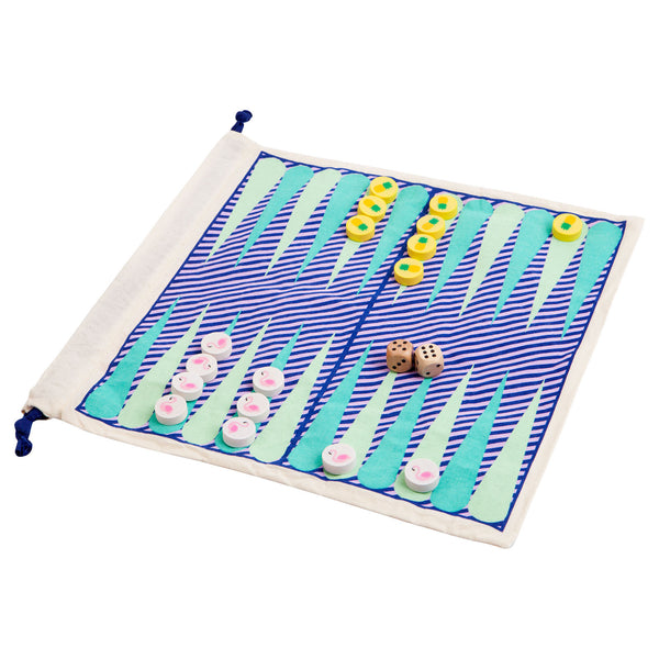 SUNNYLIFE- TRAVEL BACKGAMMON AND CHECKERS