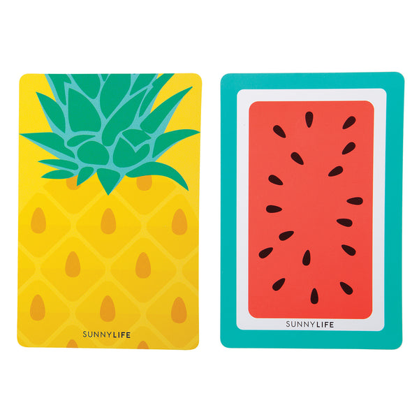 SUNNYLIFE- PLAYING CARDS PINEAPPLE AND WATERMELON