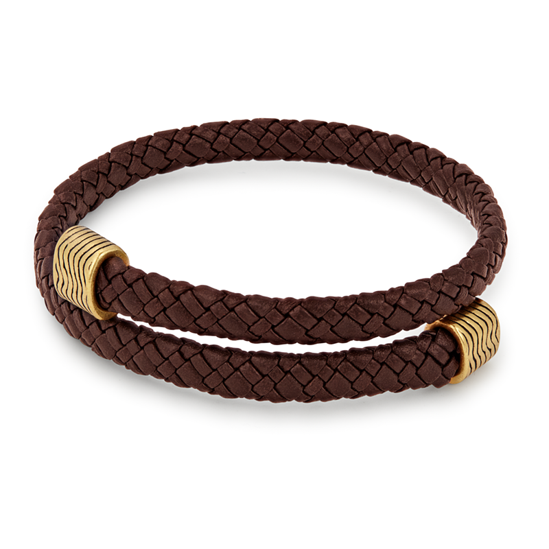 ALEX AND ANI- Espresso Leather Wrap