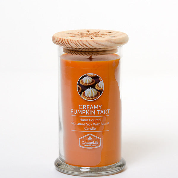 CREAMY PUMPKIN TART 16OZ - COTTAGE LIFE WEEKEND COLLECTION