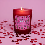 Raspberry Ripple Candle