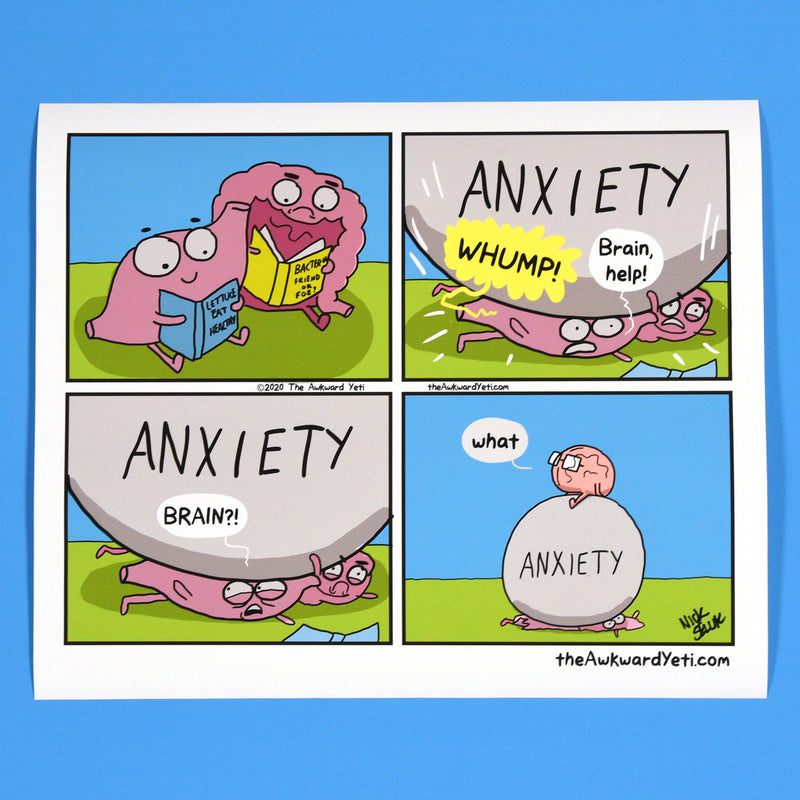 """Anxiety Hits the Gut"" Print"