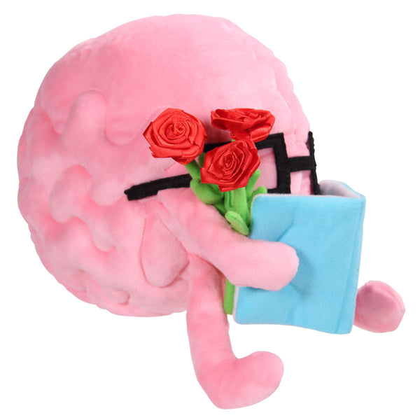 Brain Plushie with Flowers