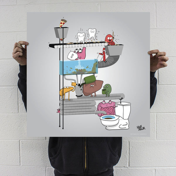"""Digestive System"" Signed Poster Print"