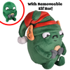 Holiday Edition Sad Gallbladder Plushie with removable Elf hat
