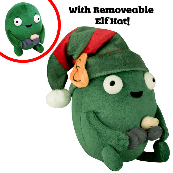Holiday Edition Happy Gallbladder Plushie with removable Elf hat