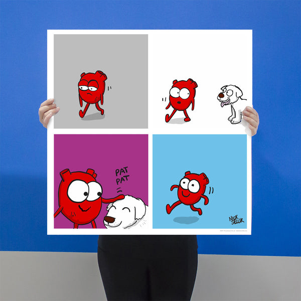 """Heart Plus Dog"" Signed Poster Print"
