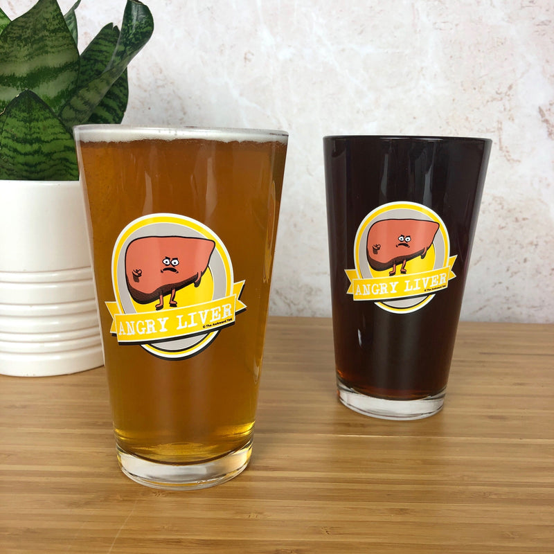 Angry Liver Pint Glass