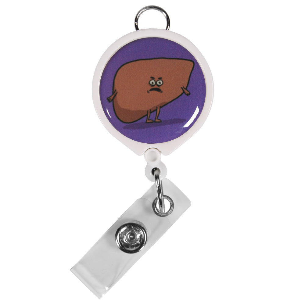 Angry Liver ID Badge Reel