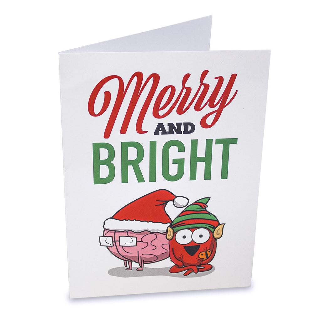 """Merry & Bright"" Greeting Card"