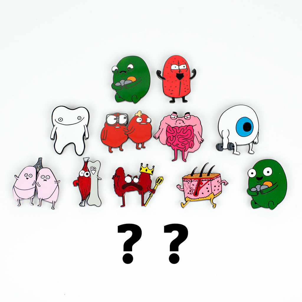Mystery Organ Collectible Pins SERIES 2