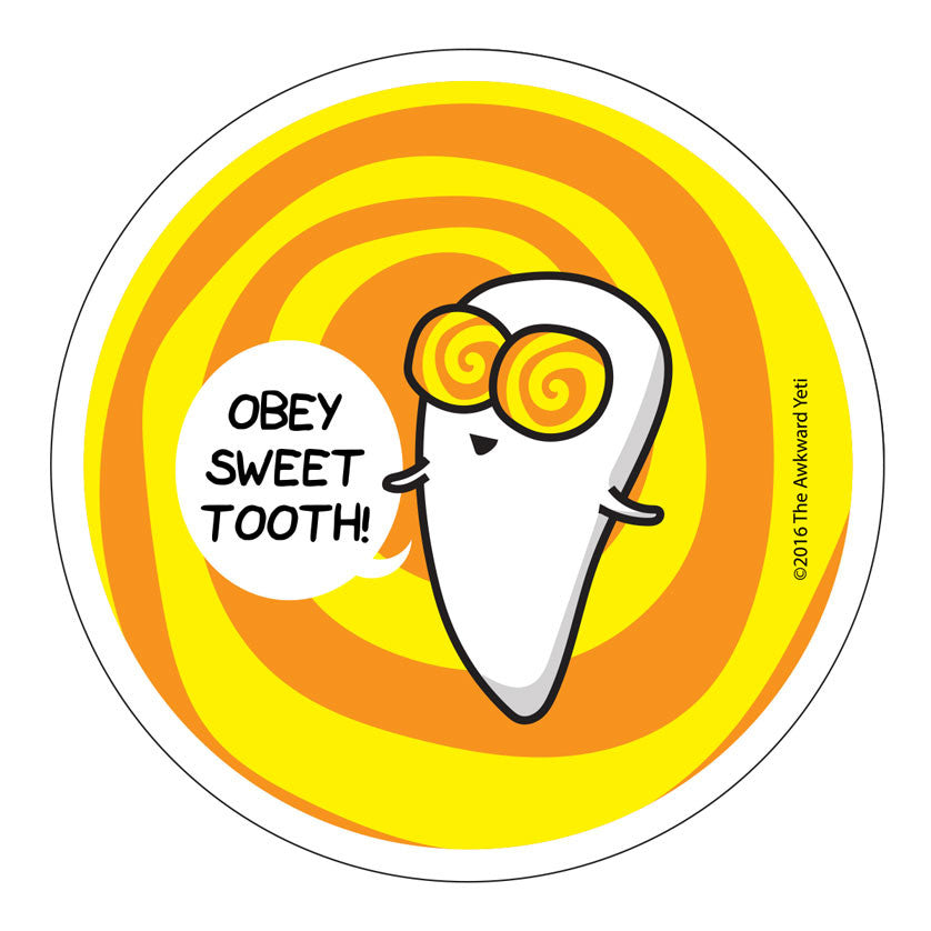 Sweet Tooth Die-Cut Sticker