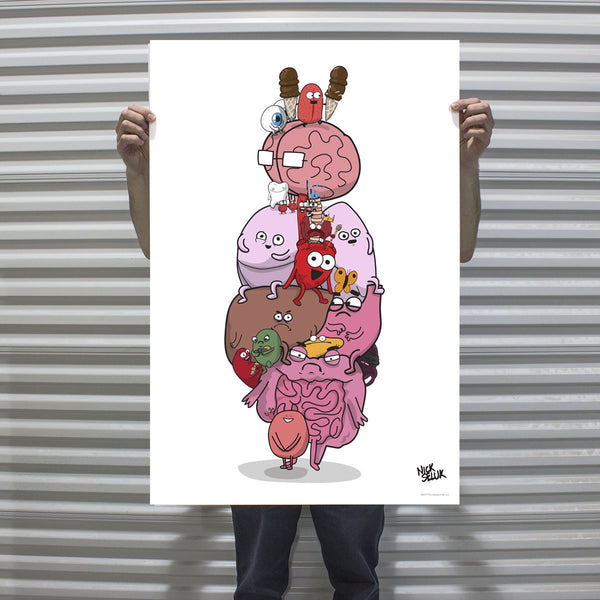 """Anatomy Diagram"" Signed Poster Print"