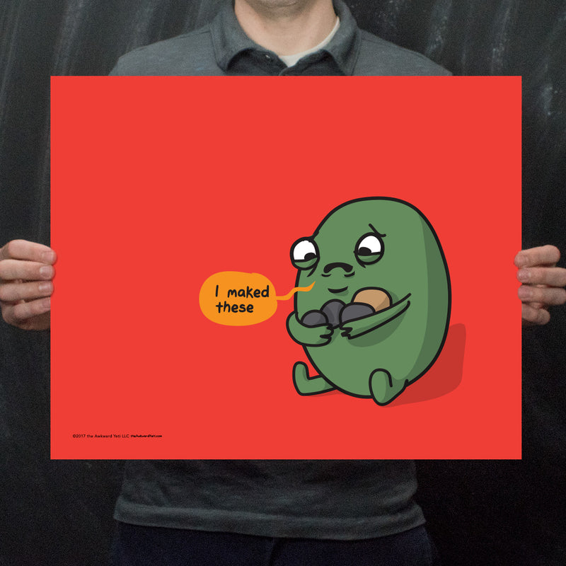 """I maked these"" Sad Gallbladder Print"