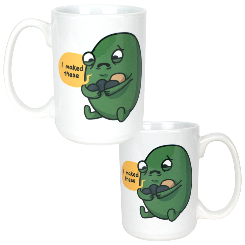 """I Maked These"" Sad Gallbladder Mug"