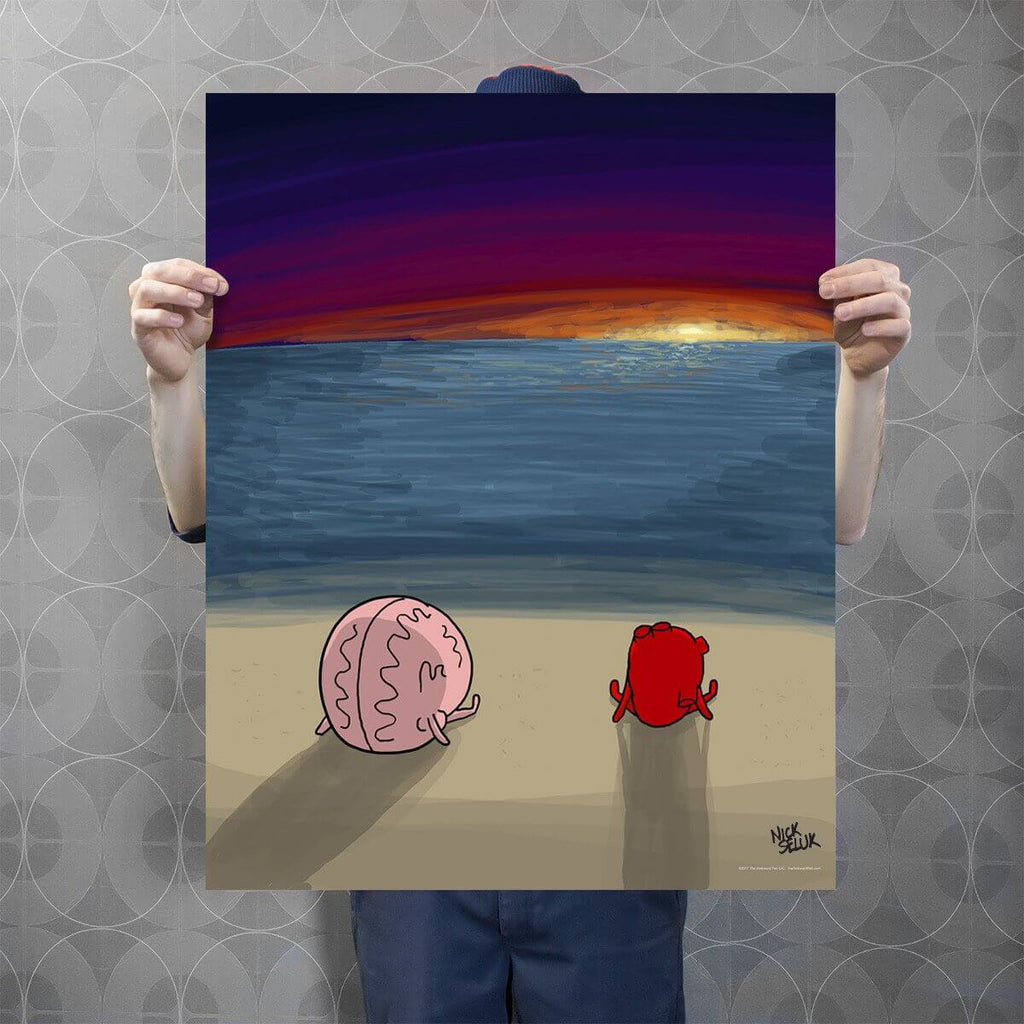 """Sunset"" Signed Poster Print"