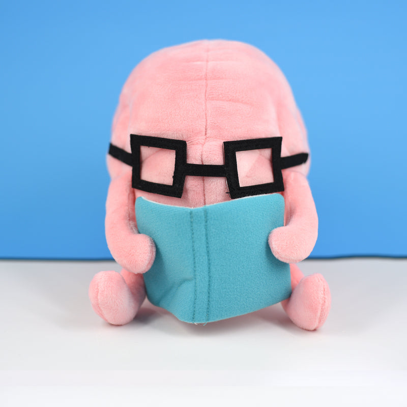 Brain with Book Plushie