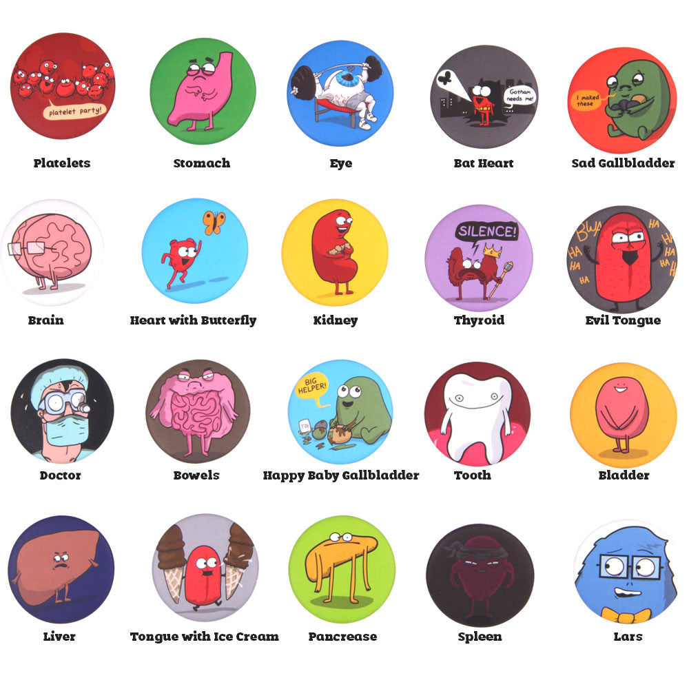 "1.5"" Character Buttons"
