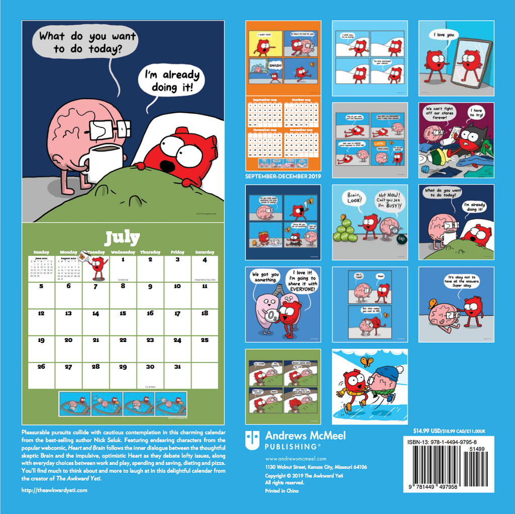 Heart and Brain 2020 Calendar