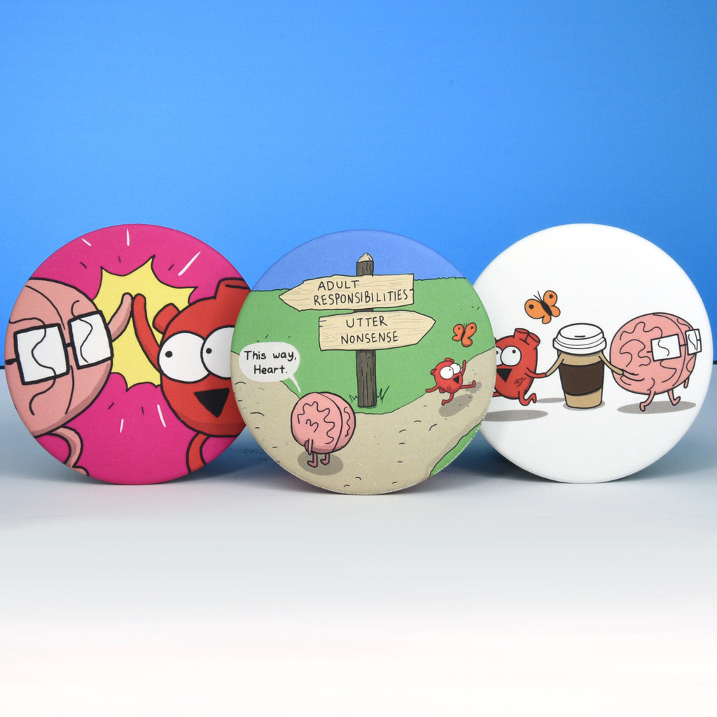 Heart and Brain Magnet Bundle