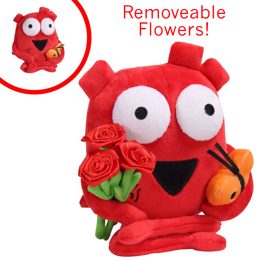 Heart Plushie with Flowers