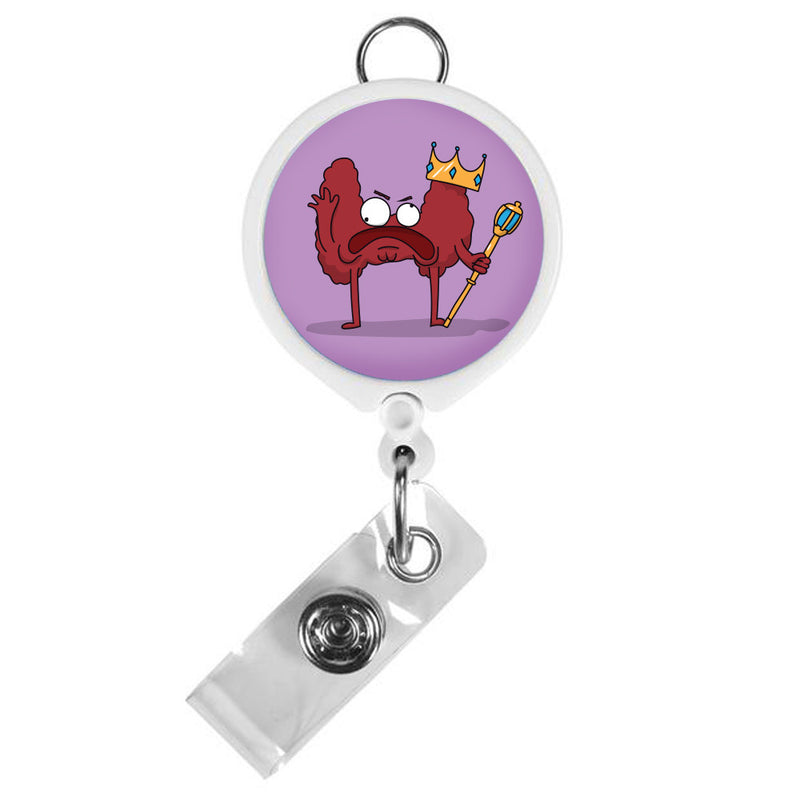 King Thyroid ID Badge Reel