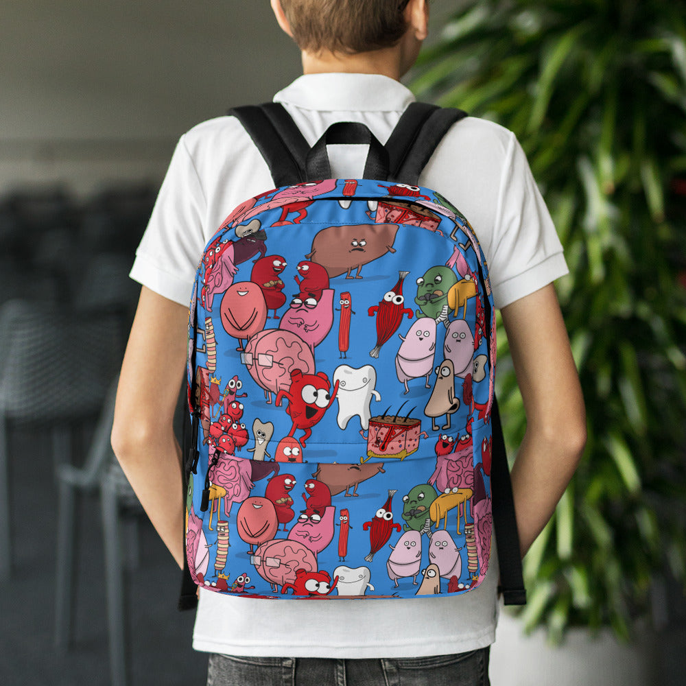 Awkward Yeti Organ Pattern Backpack