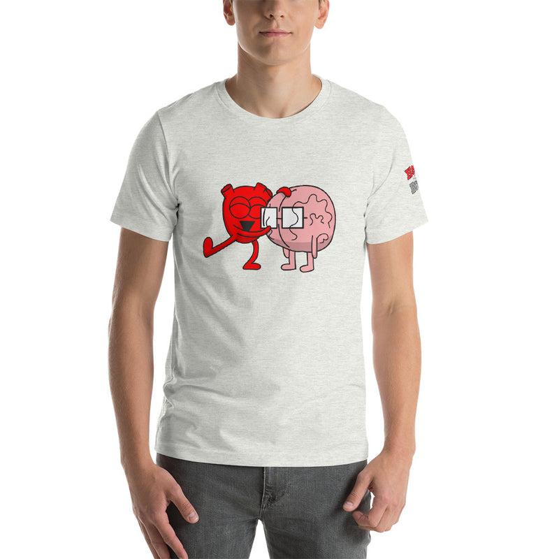 Heart Hugs Brain Short-Sleeve Unisex T-Shirt