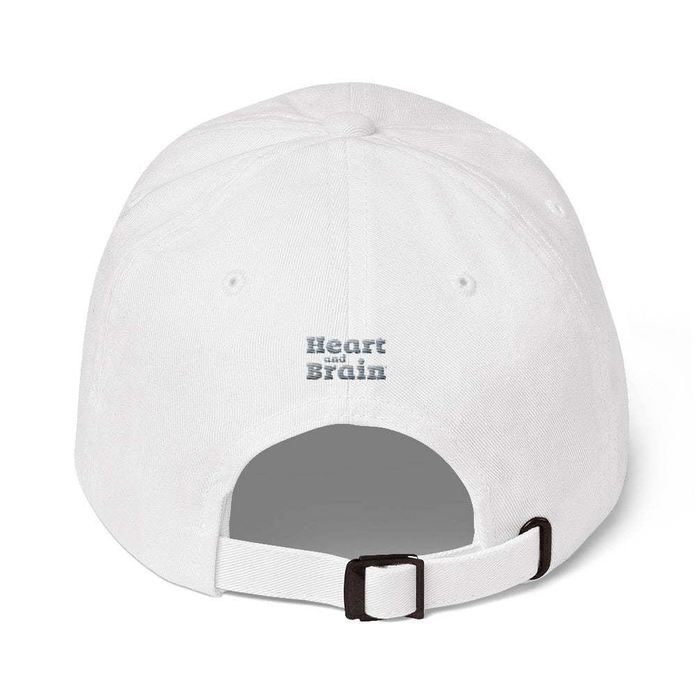 Heart and Brain Embroidered Baseball Cap