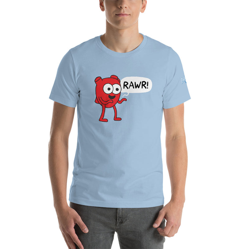 "Heart ""RAWR!"" Short-Sleeve Unisex T-Shirt"