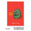 Sad Gallbladder Greeting Card