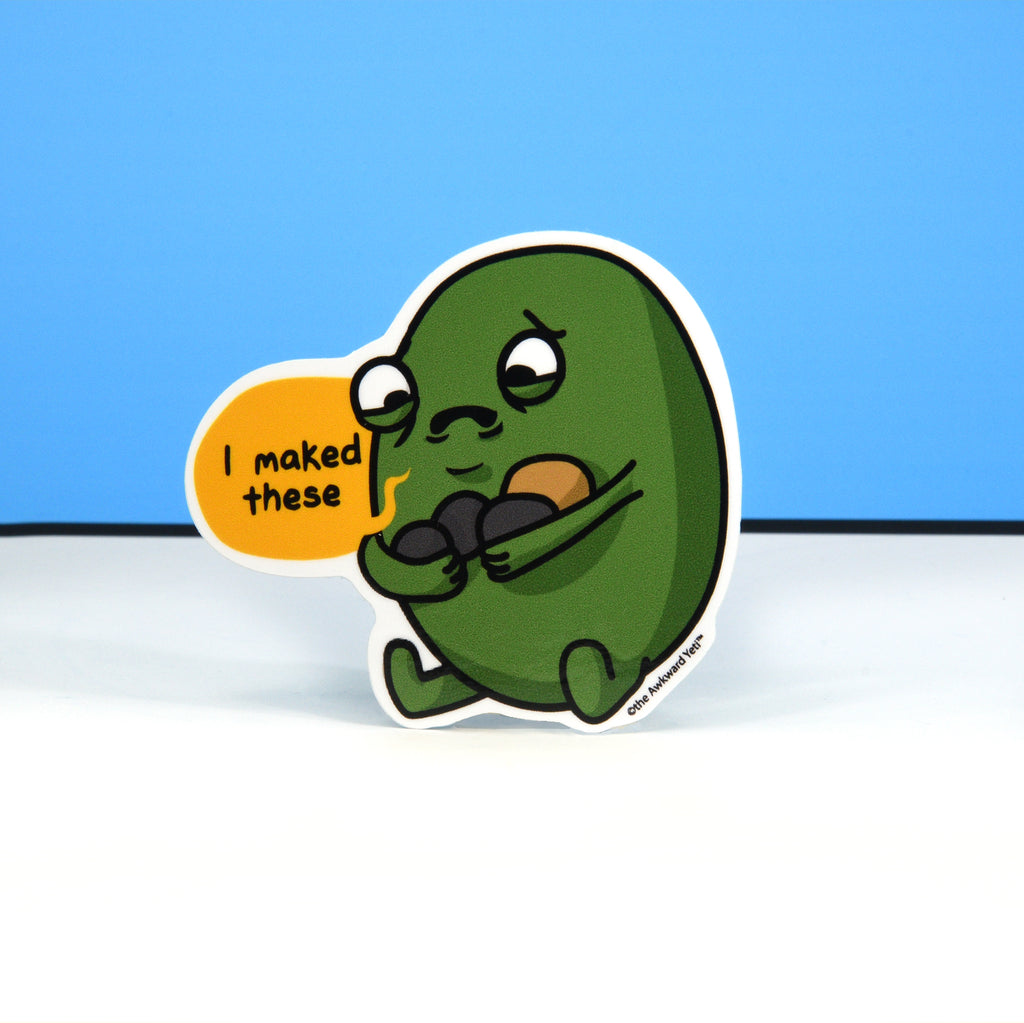 Sad Gallbladder Die-Cut Sticker