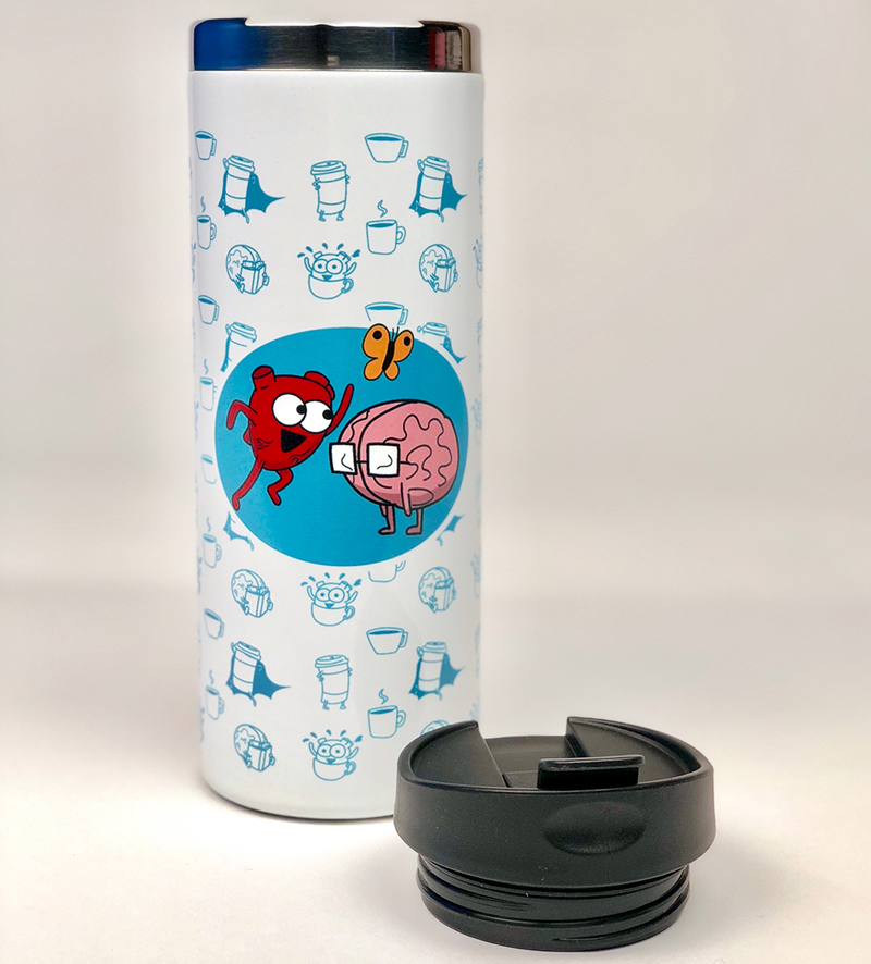 Heart and Brain Coffee Tumbler