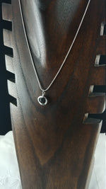 Load image into Gallery viewer, Small Lava Stone Necklace - 2 types: Heart shape and Circle shape - 6mm Lava Stone