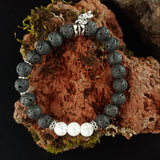Lava Bracelet with Heart or Star Charm